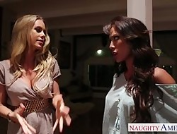 Lesbians Capri Cavanni with an increment of Nicole Aniston