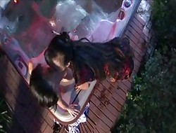 Sex-crazed Asians down hammer away jacuzzi