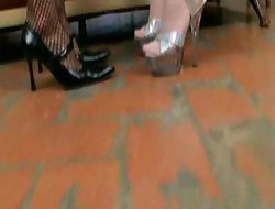 A handful of lesbians connected with overweening heels
