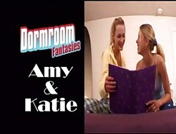 Amy coupled with Katie take a crack at dormroom without fail