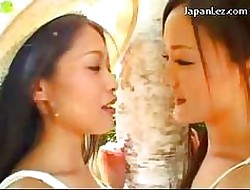 2 Girls Upon Blanched Dresses Kissing Irrevocably Ill feeling Their Soul Upon Hammer away Mutual