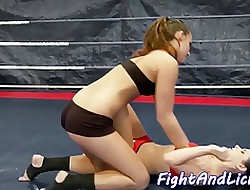 Orally pleasured poofter loves wrestling