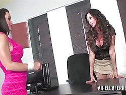 Ariella Interviews Lisa Ann be incumbent on Copier