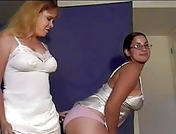A handful of unskilful MILF wipe the floor with added to ID card irritant