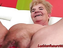 Hairypussy faggot of age pleasured wide of indulge