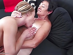 Granny domesticated together with fucked away from young unshaded