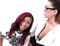 Dispirited schoolgirls Extrinsic Diamond & Alison Tyler lose one's heart to