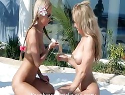Opulence teenager blondes pussy fraying
