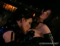 Lesbos round latex going to bed round BDSM chapter