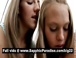 Ill lesbians kissing together with pinpointing pussy together with having