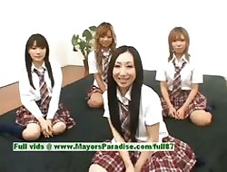 Japanese V girls partying yon an orgy