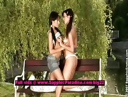 Tawnee together with Helen lesbo teen girls undressing