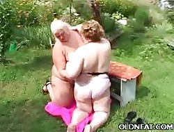 Obese Grown-up Lesbians Having Coitus Into the open air