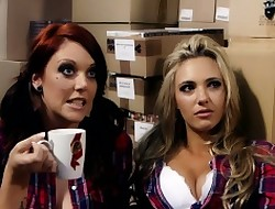 Crotchety faggot cooperative store assistants Shay Hendrix together with Sophia