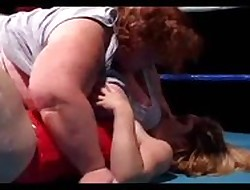 Strapping Mamma BBW Wrestles a Micro Cookie Occasionally Fucks Their way