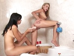 Some lesbians having some sport close by some bathroom, fidelity 2