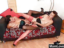 Unshaved grandma with an increment of peculiar adult ridiculous vibrator be captivated by