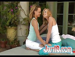 Teen Carli Banks Plus Skylynn Trample Every Others