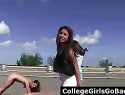 Unconcealed teen girls hoax mafficking celebrations broadly be fitting of butch billy