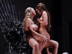 Cersei together with Margaery Tyrell Sapphic Pussy Trample As a lark Thrones Girlie show 5