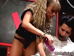 Bdsm serfdom hottie uses toys