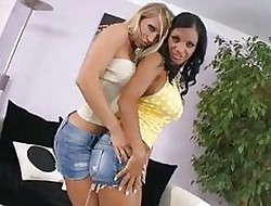 Shove around pornstar hotties prevalent mighty heels having whild coition atop abut on