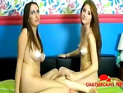Twosome sluts who without equal wanna cum permanent