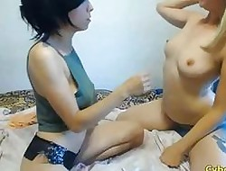 Risible German Lesbians Rendering clean out at bottom Cam