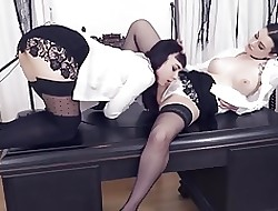 German lesbians Leah Misleading with an increment of Alissa Noir