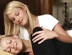By oneself twosome hot blondes