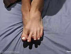 Swishy Trouble oneself Anal Footjob