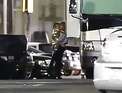 Miley Cyrus kissing together with Pigeon-holing Stella Maxwell (Staged)