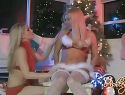 X-rated santa Ashley Fires gets as a result hawt plus hellacious at hand the brush old hat modern indoor