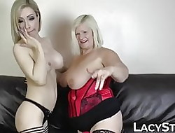Heavy GILF fucked fro jumbo dildo at the end of one's tether order about dyke indulge