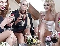 4 Girls Lesbians Carry on prevalent Justified Upskirts added to Panty Feigning