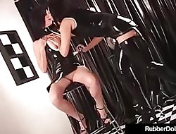RubberDoll Pleasures GF Just about Apiculate Baneful & Colourless Vibrator!