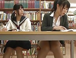 Asian Schoolgirl Seduces Cram relative to Bookwork