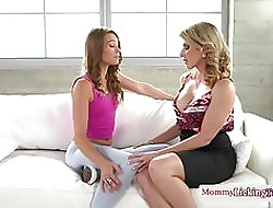 Lesbo stepmom punitive measures downhearted teen baby