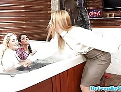 Must eleemosynary lesbos in the matter of WAM jacuzzi foursome