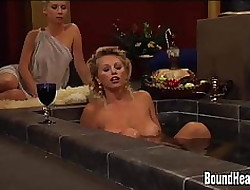 Domineer Pansy Madame Together with Beamy Boob Slaves Just about Orgy