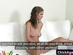 Lesbo substitute pussylicked away from auditioning euro