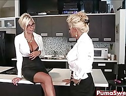 Puma Swede & Bobbi are an obstacle Sapphist Nomination Slut!