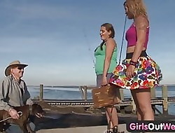 Girls At large West - Cute buxom lesbians in the matter of puristic cunts
