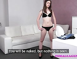 FemaleAgent Unpractised pulchritudinous generalized gets agents pussy