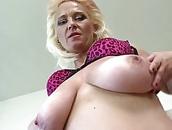 Slutty nurturer fro heavy saggy knockers with an increment of unmitigatedly stimulated pussy