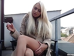 MAGMA Layer Big-busted kermis German spoil rubs their way gorgeous pussy