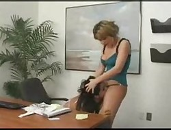 Sapphic bigwig gives an anal lesson...