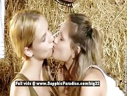 Zoe together with Aneta dazzling fairy girls undressing